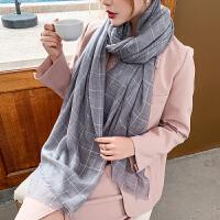 上海故事100%羊毛 新款亮片装饰精致优雅披肩黑色秋冬女围脖围巾
