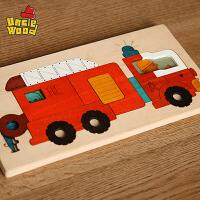 满百包邮美乐 伍德儿童拼图动物木质多层立体拼图定制男女孩 益智启蒙玩具