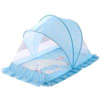 宝宝小孩儿童床无底蚊罩通用婴儿蚊帐带支架可折叠蒙古包蚊帐