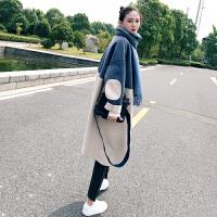 安妮纯毛呢外套女2020新款中长款韩版秋冬流行大衣赫本港味加厚呢子外套