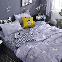 床单单件 棉床上用品被单三件套双人棉被套学生宿舍单人被罩q