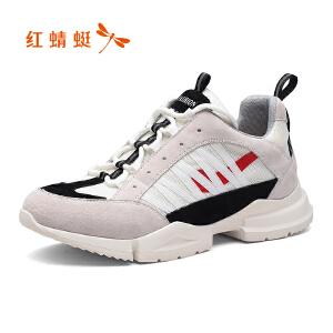 红蜻蜓男鞋休闲鞋秋冬鞋子男板鞋WTA8387