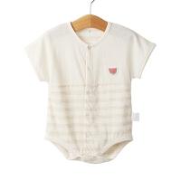 婴儿连体衣幼儿哈衣爬服婴儿衣服夏季宝宝短袖三角爬服