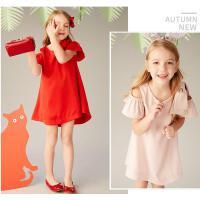 童装女童红色连衣裙夏季中大童公主裙子