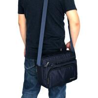 春夏新款男士单肩斜跨包休闲背包防水牛津布商务公文包手提包