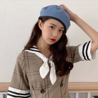 网红款贝雷帽女夏季薄款英伦复古八角帽透气日系画家报童帽子双面