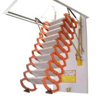 阁楼伸缩隐形楼梯 钛镁合金伸缩折叠室内家用半自动阁楼楼梯别墅复式升降拉伸隐形梯