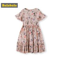 巴拉巴拉女童裙子中大童夏装2019新款童装儿童连衣裙田园风长裙潮