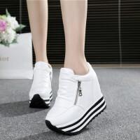 女鞋韩版休闲鞋松糕鞋松糕跟厚底系带女鞋超高跟内增高单鞋阿甘鞋