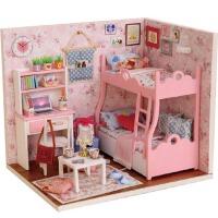 公主小房子拼�b模型女生玩具��意生日�Y物diy小屋小木屋手工制作模型