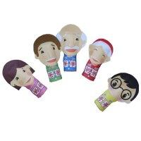 小号生肖动物西游记指偶一家六口人物职业手指毛绒手套玩偶娃娃