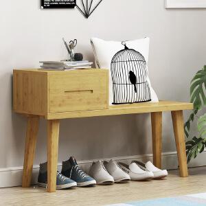 幽咸家居 换鞋凳鞋柜抽屉储物简约现代家用沙发凳多功能床尾凳门口穿鞋凳子
