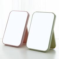 泰蜜熊台式化妆镜大镜面梳妆镜便携折叠桌面公主镜长方形镜子简约时尚镜