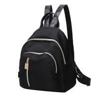 迷你双肩女包尼龙韩版夏牛津布迪丽热巴同款小背包休闲学院风 黑色
