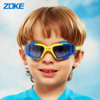 ZOKE洲克新款儿童泳镜防水防雾平光混彩大框男女童通用游泳镜615502102