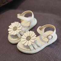 儿童凉鞋女童公主鞋果冻软底沙滩鞋1-7岁小孩花朵鞋