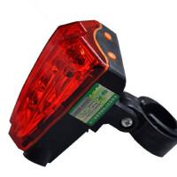 激光尾灯山地车灯单车自行车尾灯安全灯骑行装备配件激光灯警示灯