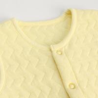婴儿夹棉背心马甲冬季 新生儿保暖上衣冬款宝宝纯色坎肩厚
