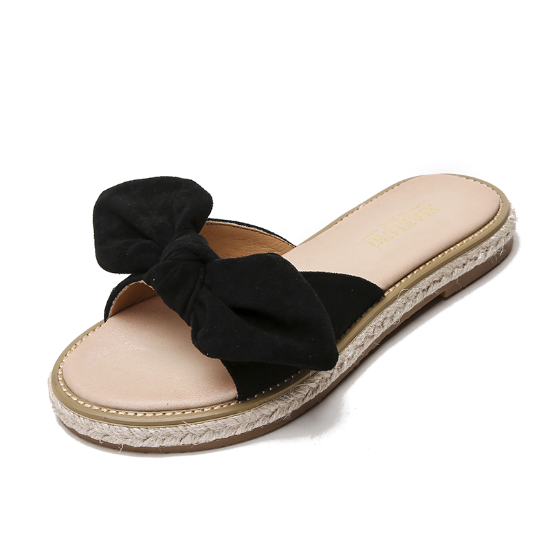 平底半拖鞋女2019新款夏季时尚外穿大码41凉鞋海边沙滩度假鞋