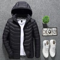 2018男士外套棉衣冬季智能加热发热电热充电冬天棉袄羽绒棉服冬装大码