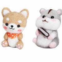 羊毛毡戳戳乐手工diy材料全套 打发时间手工diy材料包制作柴犬猫咪小动物玩偶