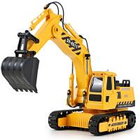电动充电无线遥控车挖掘机儿童玩具礼物大号工程车挖土机男孩