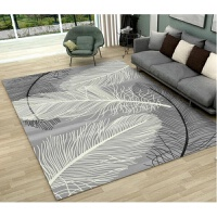 现代ins北欧创意简约客厅茶几沙发卧室书房水洗薄款地毯地垫定制y 浅灰色 如图-羽翼