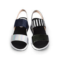 【秋冬新款 限时1折起】爱旅儿露趾凉鞋坡跟女鞋EM68220