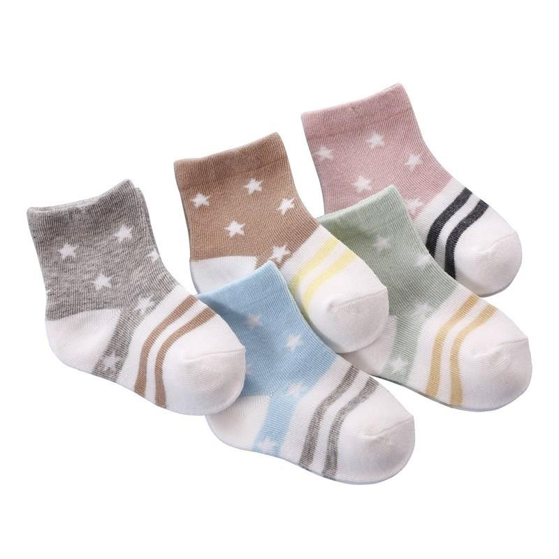 6秋天3新生儿男女宝宝袜子薄款21春秋4秋季7婴儿9岁0到8个月