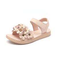女童凉鞋夏季时尚花朵软底中大童鞋宝宝沙滩鞋