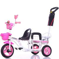 双胞胎三轮车儿童三轮车双胞胎手推车 双人车 婴幼儿推车宝宝三轮车脚踏车童车LYZT70