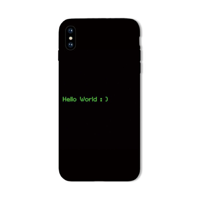 苹果8手机壳iPhone7plus简约XS硅胶6s创意文字MAX黑5全包XR磨砂X 苹果5/5s/se hello world