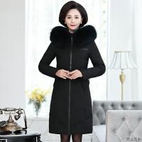 中年羽绒服女2018冬装新款时尚加厚年轻妈妈装中长款修身洋气外套