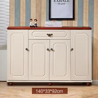地中海创意鞋柜 简约现代地中海风格美式乡村门厅柜欧式多功能储物装饰柜 组装