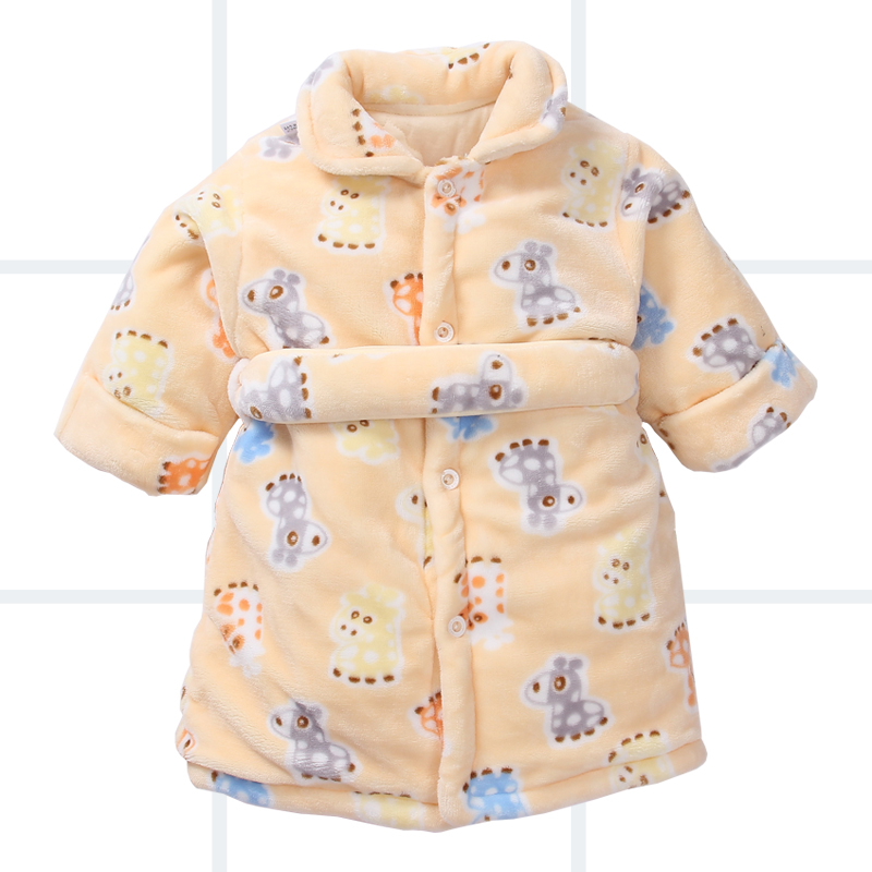 婴儿睡袍春秋冬法兰绒加厚保暖幼儿童宝宝睡衣珊瑚绒冬天浴袍
