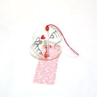 创意手工玻璃日式樱花风铃和风礼物挂件可爱小挂饰清新件卧室挂饰