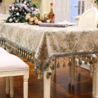 欧式茶几布布艺流苏边家用长方形餐桌布台布正方形圆形圆桌布定制