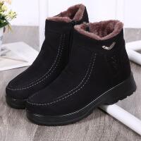 布鞋女冬季中老年妈妈滑保暖加绒加厚大码老人鞋