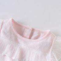 戴维贝拉女童连衣裙2020夏季新款童装儿童洋气裙子小孩公主纱裙