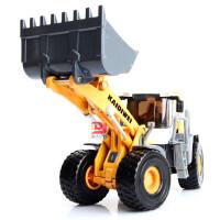 散装凯迪威合金工程铲车模型1:50滑行儿童摆设收藏玩具
