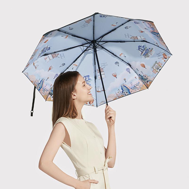 蕉下度假系列小黑伞防晒伞折叠晴雨伞防紫外线太阳伞 蕉下度假防晒伞折叠晴雨伞防紫外线太阳伞