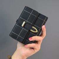 短款女士钱包可爱日韩版约零钱包大钞夹搭扣小钱包学生新款