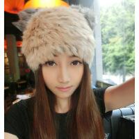女帽可爱帽保暖韩版潮帽卡通时尚猫耳朵帽兔毛皮草帽子
