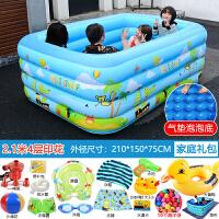 儿童洗澡充气游泳池加厚婴儿游泳桶宝宝家用家庭小孩室内保温浴缸