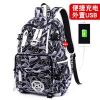 青少年双肩包男孩韩版小学校园学生包中学生男背包高中初中生书包