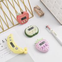 学生时间钟表管理器倒顺计时器电子闹钟秒表定时器水果造型提醒器