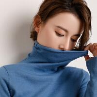 毛衣女女士 高领打底衫毛衣纯色针织绒衫