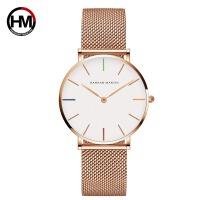 日本机芯精钢网带电镀防水手表 休闲商务女士手表