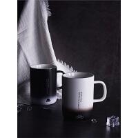 马克杯带盖勺简约创意陶瓷杯水杯男家用咖啡杯子