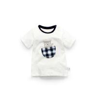 加菲宝贝 GAFFEY KITTY 新款夏季男童短袖t恤GKA3021
